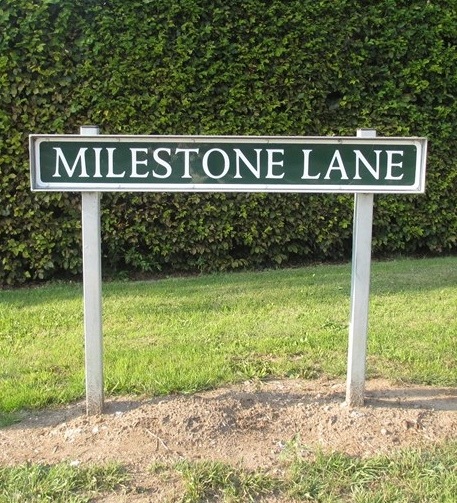 A Milestone Lane at Pinchbeck, Lincolnshire