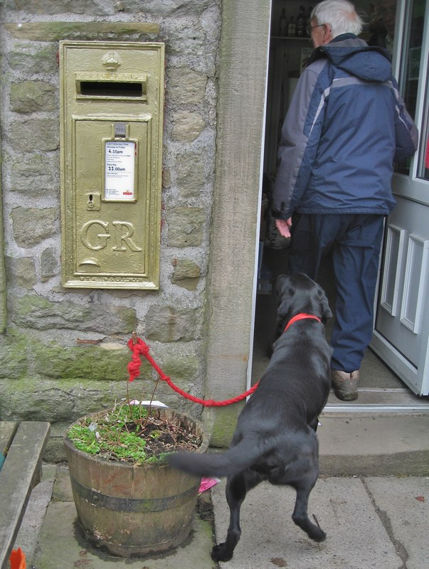 Hebden's golden letter-box